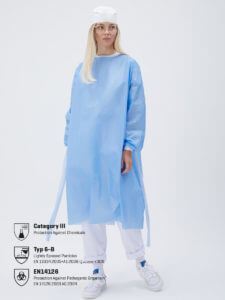 Buy online protective gowns
